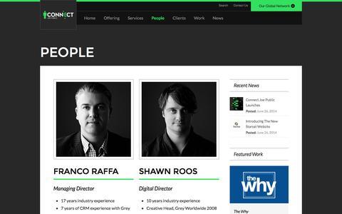 Screenshot of Team Page joepublic.co.za - Joe Public Connect - People - captured Sept. 30, 2014