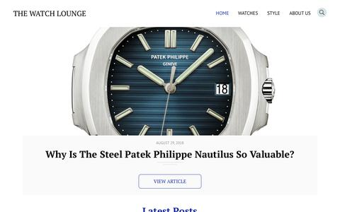 Screenshot of Home Page thewatchlounge.com - The Watch Lounge - The Luxury Watch Lover's Magazine - captured Sept. 21, 2018