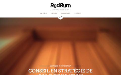 Screenshot of Home Page agence-redrum.com - Agence Redrum - captured Sept. 30, 2014