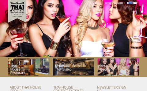 Screenshot of Home Page thaihouse.com - Thai House Resturant - - captured Jan. 20, 2016