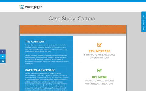 Screenshot of Case Studies Page evergage.com - Evergage | Case Study: Cartera - captured May 24, 2019
