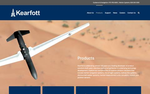 Screenshot of Products Page kearfott.com - Products | Kearfott - captured Oct. 15, 2018