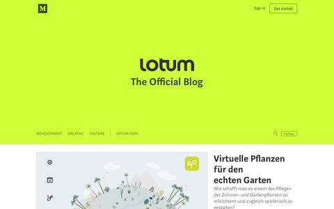 Screenshot of Blog lotum.com - Lotum - captured Sept. 25, 2018