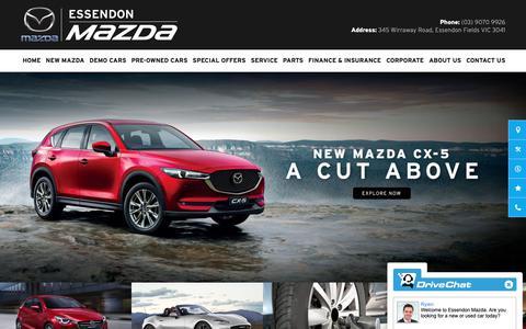 Screenshot of Home Page essendonmazda.com.au - Essendon Mazda - captured Dec. 8, 2018
