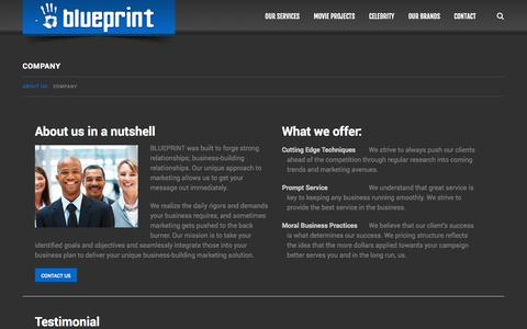 Screenshot of About Page blueprintadvertising.com - Company  |  BluePrint Advertising - captured Oct. 29, 2014