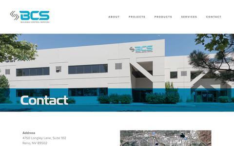 Screenshot of Contact Page bcsnv.com - Contact — BCS-NV - captured Dec. 19, 2018