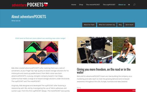 Screenshot of About Page Team Page adventurepockets.com - About us - adventurePOCKETS - captured Oct. 23, 2014
