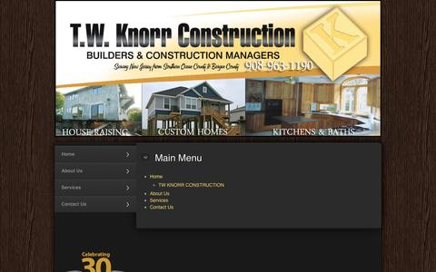 Screenshot of Site Map Page twknorr.com - Site Map | T.W Knorr Construction - captured Oct. 27, 2014