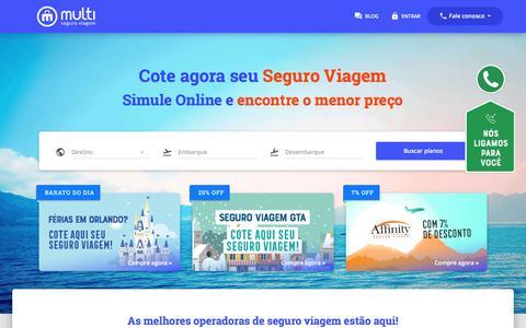 Screenshot of Home Page multiseguroviagem.com.br - Multi Seguro Viagem | Sua Cotação de Seguro Viagem em Tempo Real - captured Feb. 25, 2018
