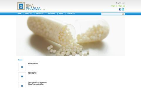 Screenshot of Press Page rivapharma.com - News - RivaPharma - captured Sept. 30, 2014