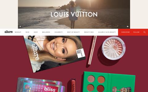 Screenshot of Home Page allure.com - Allure - Beauty Tips, Trends & Product Reviews | Allure - captured Dec. 11, 2018