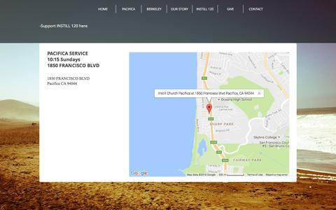 Screenshot of Maps & Directions Page instillchurch.org - Instill Church Pacifica & Berkeley | MAP - captured Nov. 26, 2016