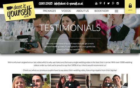 Screenshot of Testimonials Page shoot-it-yourself.co.uk - Testimonials - captured March 13, 2017