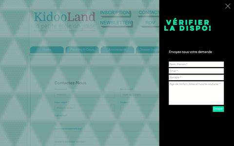 Screenshot of Contact Page Maps & Directions Page kidooland.com - Trouvez KidooLand 1890 Chemin de Saint Bernard 06220 Vallauris - captured Oct. 15, 2018