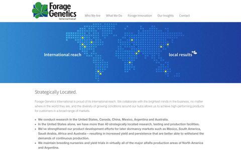 Screenshot of Locations Page foragegenetics.com - - Locations - captured Feb. 10, 2016