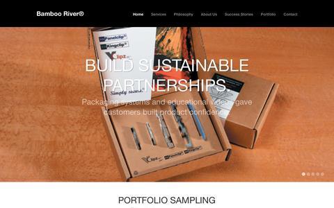 Screenshot of Home Page bamboorivermarketing.com - Bamboo River® - captured Dec. 29, 2015