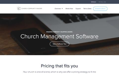 Screenshot of Pricing Page churchcommunitybuilder.com - Pricing - Church Community Builder - captured April 24, 2018