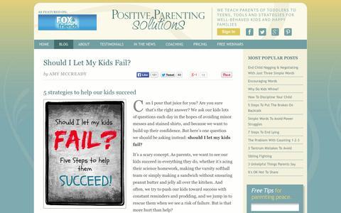 Screenshot of Blog positiveparentingsolutions.com - Positive Parenting Solutions - captured Oct. 22, 2014