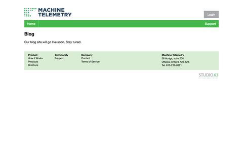 Screenshot of Blog machinetelemetry.com - Blog - Machine Telemetry Inc. - captured Oct. 1, 2014