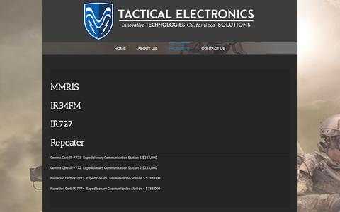 Screenshot of Products Page tacel.com - Products - Tactical Electronics - captured Oct. 24, 2017