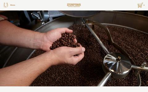 Screenshot of stumptowncoffee.com - A Note about Peet's   Stumptown Coffee Roasters Blog - captured Oct. 6, 2015