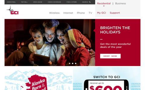 Screenshot of Home Page gci.com - GCI - captured Dec. 14, 2015