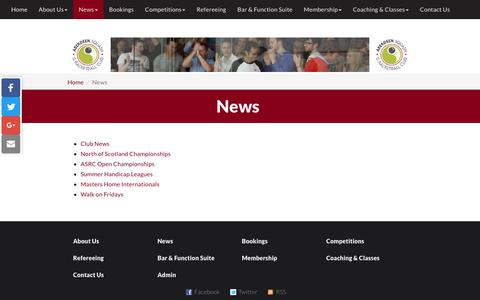 Screenshot of Press Page asrc.co.uk - News | Aberdeen Squash & Racketball Club - captured Oct. 7, 2017