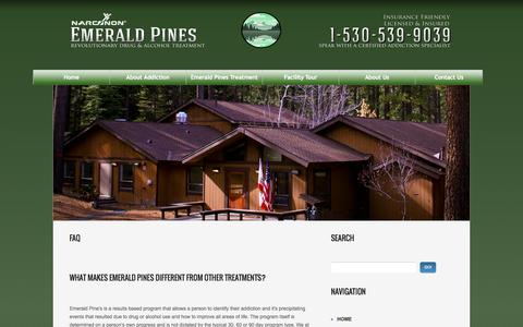 Screenshot of FAQ Page emeraldpinesrehab.com - Emerald Pines | Frequently Asked Questions - captured Sept. 29, 2014