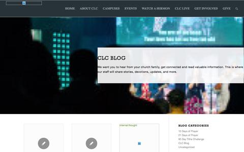 Screenshot of Blog clc.tv - Blog - Christian Life Center - CLC.tv - captured Oct. 6, 2016