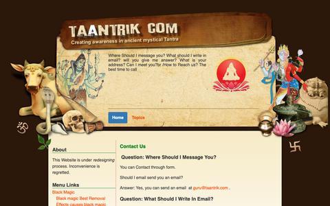 Screenshot of Contact Page taantrik.com - Contact us - captured Oct. 21, 2018