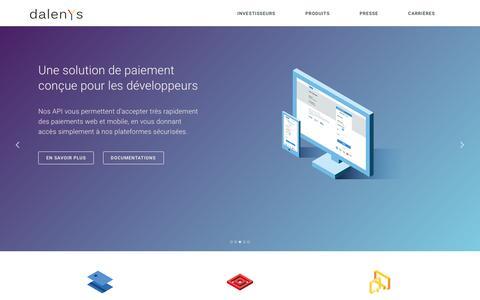 Screenshot of Home Page dalenys.com - Dalenys : Le Partenaire Paiement des Marchands - captured Jan. 24, 2016