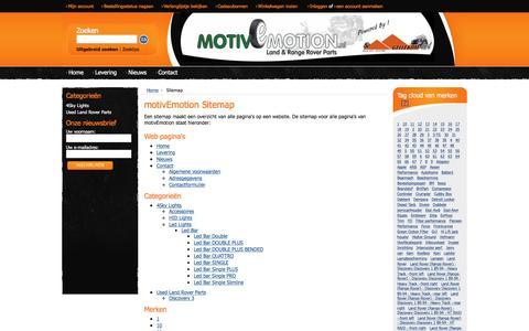 Screenshot of Site Map Page motivemotion.nl - motivEmotion Sitemap - captured Dec. 22, 2016