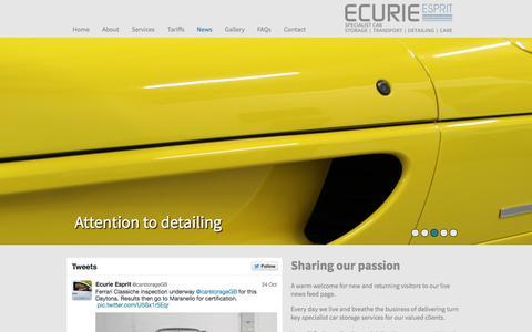 Screenshot of Press Page ecurieesprit.co.uk - News - Ecurie Esprit - captured Oct. 27, 2014