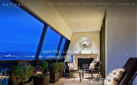 Screenshot of Home Page sofitel-los-angeles.com - Sofitel Los Angeles at Beverly Hills - Be our guest - captured Oct. 24, 2018