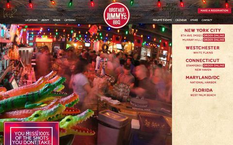 Screenshot of Home Page brotherjimmys.com - Brother Jimmy's BBQ | Original BBQ Restaurant | Kid Friendly Restaurant | Sports Bar - captured Sept. 24, 2018