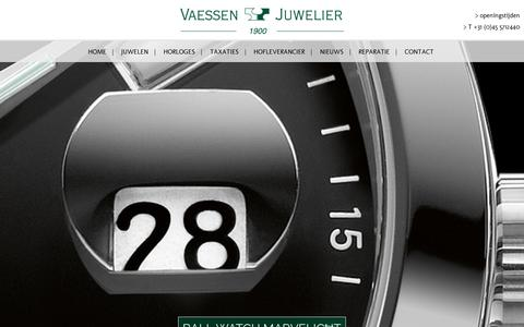 Screenshot of Home Page vaessen.nl - Vaessen Juweliers Heerlen, since 1900, The Netherlands - captured Nov. 4, 2017