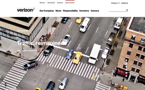 Screenshot of About Page verizon.com - About Verizon | Official Corporate Website - captured June 3, 2018