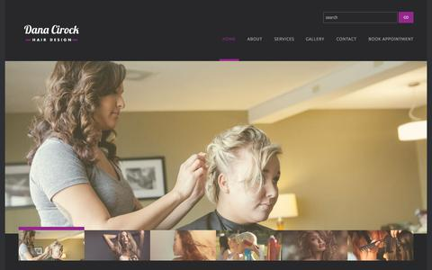 Screenshot of Home Page cirockhair.com - Dana Cirock Hair Designs | - captured Oct. 11, 2015