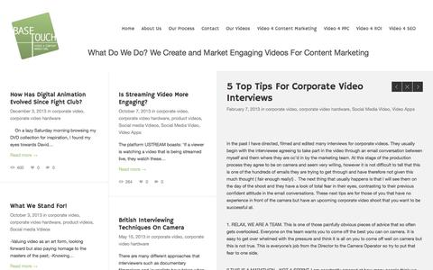 Screenshot of Blog basetouchlondon.com - 5 Top Tips For Corporate Interviewee's - captured Oct. 5, 2014