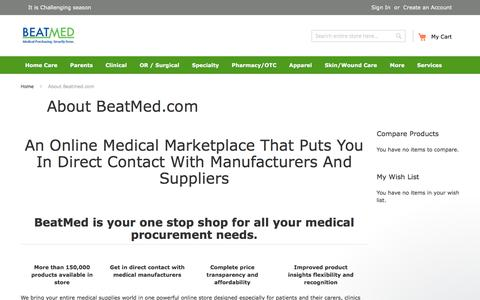 Screenshot of About Page beatmed.com - BeatMed says… - captured Oct. 10, 2017