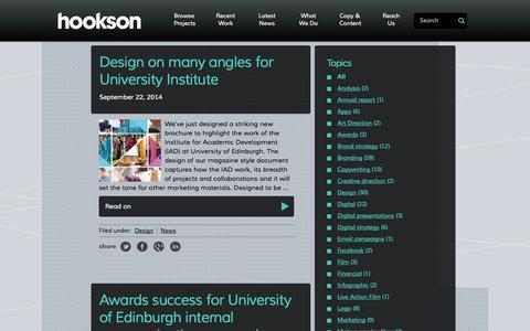 Screenshot of Press Page hookson.com - News Archives - Hookson – Creative and Marketing Agency - captured Sept. 30, 2014