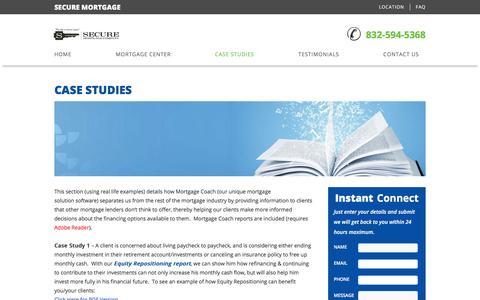 Screenshot of Case Studies Page yourbestloan.net - Case Studies | Your Best Home Loans - captured Feb. 7, 2016
