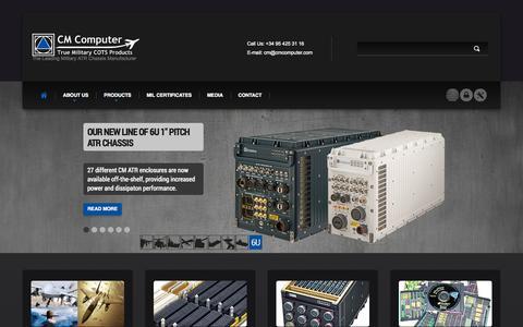 Screenshot of Home Page cmcomputer.com - CM Computer | True Military VMEbus I/O & ATR Chassis - captured Oct. 1, 2014