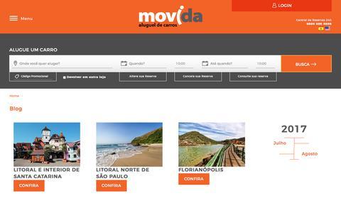 Screenshot of Blog movida.com.br - Movida - captured Nov. 4, 2017