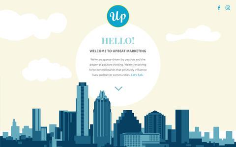 Homepage - Upbeat Marketing