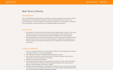 Terms Of Service - Moat
