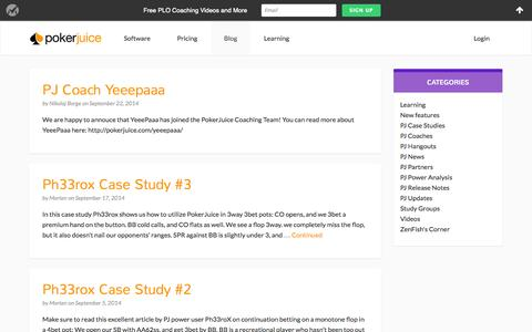 Screenshot of Blog pokerjuice.com - Blog - PokerJuice - captured Sept. 30, 2014