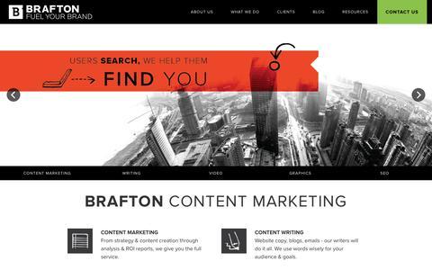 Screenshot of Home Page brafton.com - Brafton - captured Dec. 27, 2015