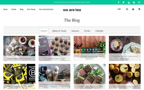 Screenshot of Blog wearetea.com - Our Blog | Tea Infused Recipes | Lifestyle | Interviews – we are tea - captured Sept. 21, 2018