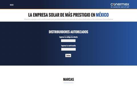 Screenshot of Login Page conermex.com.mx - Conermex | Te conecta con el sol - captured Nov. 10, 2016